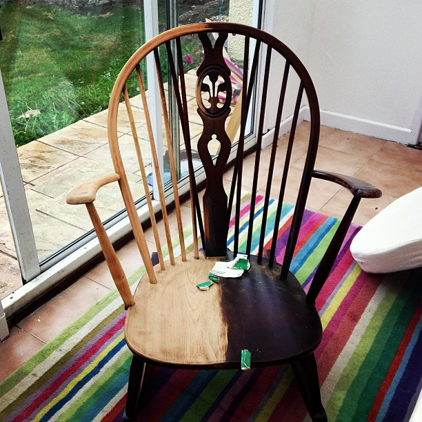 I Am Slowly Renovating An Ercol Rocking Chair. It Did Not Come With Cushions  But Does Have The Attachment For The Cushions. I Want To Try And Make  Cushions ...